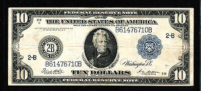 1914 $10 Large Size Federal Reserve Note of New York