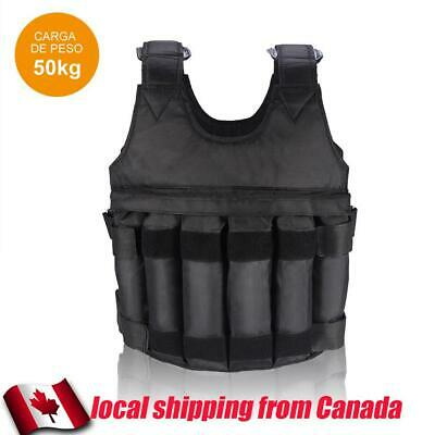 50KG Max Loading Adjustable Workout Weight Weighted Vest Exercise Fitness CA