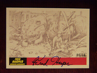 2017 Topps MARS ATTACKS: The Revenge Artist Autographed Card #P-6 by Fred Harper