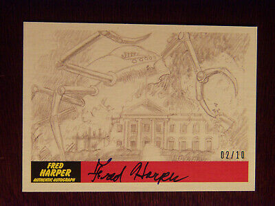 2017 Topps MARS ATTACKS: The Revenge Artist Autographed Card #P26 by Fred Harper