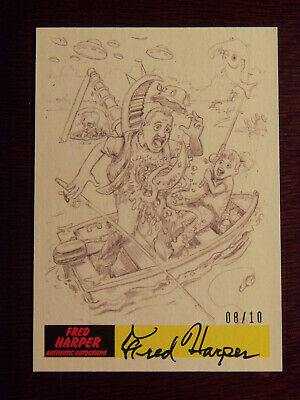 2017 Topps MARS ATTACKS: The Revenge Artist Autographed Card P25 by Fred Harper1