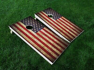 Wyoming State Flag Cornhole Board Decals