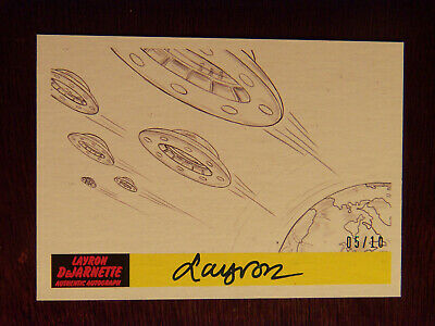 2017 Topps MARS ATTACKS: The Revenge Artist Autographed Card P-53 by Layron