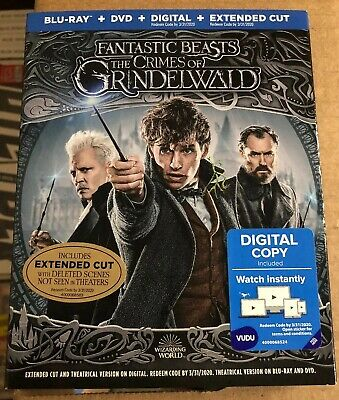 FANTASTIC BEASTS THE CRIMES OF GRINDELWALD BLU RAY DVD SLIPCOVER Extended Cut