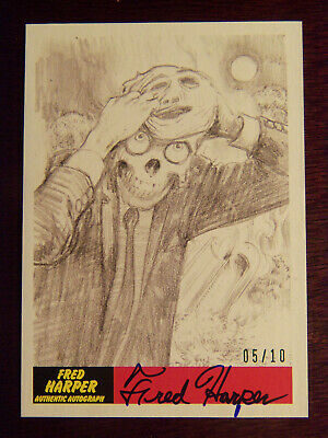 2017 Topps MARS ATTACKS: The Revenge Artist Autographed Card #P18 by Fred Harper
