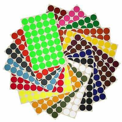 Sticker Marking Dots 19mm Labels 3/4 Inch Rounded Organizing Stickers 720 Pack