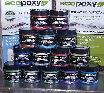 ECOPOXY METALLIC COLOR PIGMENT 14 Pack epoxy resin color river tables art New