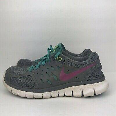 fdd2e1730e08 Women s NIKE Flex 2013 Run Running Shoes 580440-002 Gray Teal Pink Size 7.5