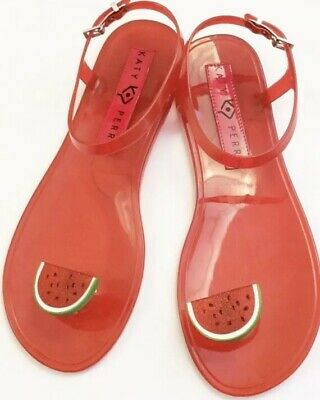 be57613bf4a5 Katy Perry Novelty Red Watermelon Scented Geli Women s Size 7 Jelly Sandals