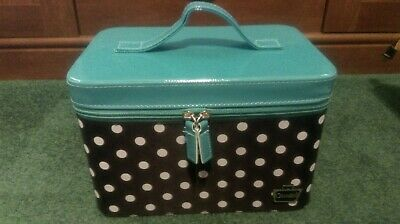 Caboodles Gilded Pleasure Nail Valet Blue, Black and White Polka Dots