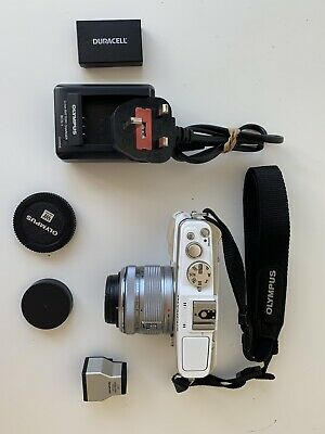 Olympus Pen EP-3 12.3MP Digital Camera - White 14-42mm Lens Included Mirrorless
