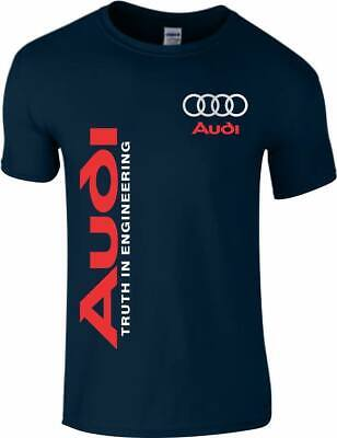 Audi Car T shirt s3 tt r8 Sports Car Quattro Racing Mens Quality Tee Top S XXL