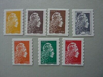 Neuf N° 1594 A 1600 Marianne L'engagee  Adhesif Yseult Yz Digan Serie 7 Timbres