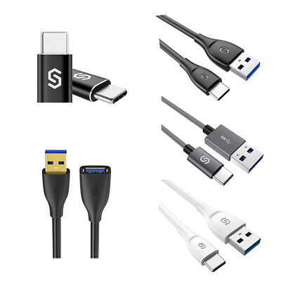 1M/2M USB 3.0 Data Cable Male to Male/Female Extension Cable USB-C to Micro USB