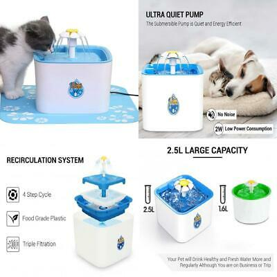ADOV Pet Fountain, 2.5L Indoor and Outdoor Automatic Electric Cat Drinking...