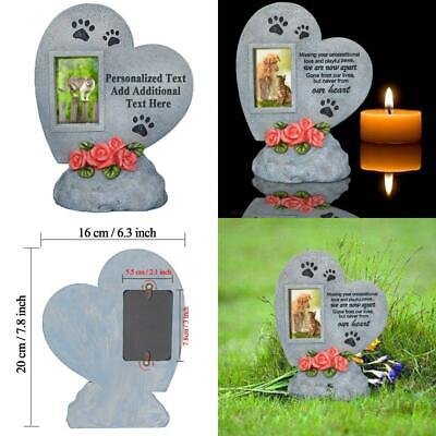 PETAFLOP Pet Memorial Stones with Photo,Heart shaped Photo Frame Dog or Cat...