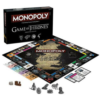 Monopoly Game of Thrones Board Game Gift or Activity for Thrones Fans Cards