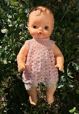 Adorable 1960s Vintage Baby Doll Rubber Bath Buddy Regal Toys Canada