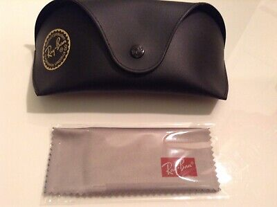 BN 100% auth RayBan, Black glasses / sunglasses case With Logo And Cloth.