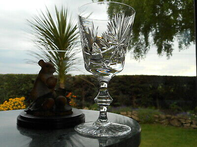"Edinburgh Crystal  STAR OF EDINBURGH  6 "" CLARET WINE  glass / glasses  ( 1st )"