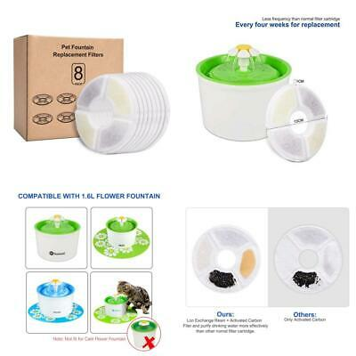 Rhodesy Cat Water Fountain Filters for Flower Fountains, Pet Fountain...