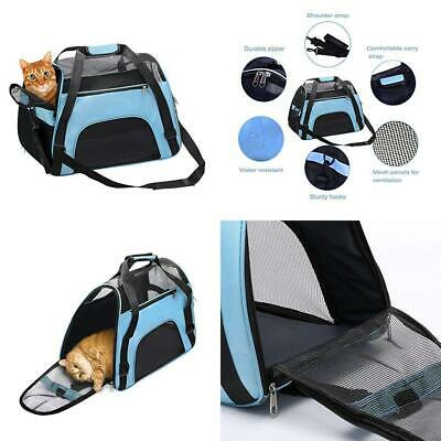 DONYER POWER Soft Sided Pet Carrier for Dogs & Cats Comfort Airline blue