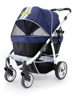 Pet Stroller,IPS-06/Navy-Blue, dog carrier, trolley, Trailer, Innopet, blue