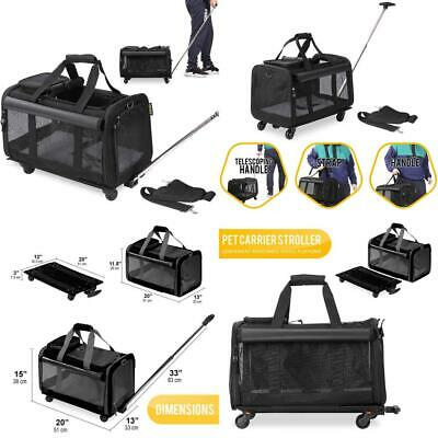 KOPEKS Travel Carrier for Pets, Bag with Hand and 4 Wheels Carrying...