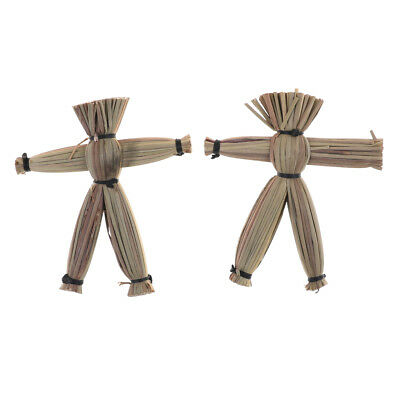 2pcs Voodoo Dolls Spooky Magic Stage Accessories Comedy Amazing toys HT