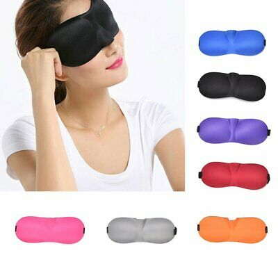 3D Soft Padded Travel Blindfold Blackout Eye Mask For Sleep Rest Aid Shade Cover