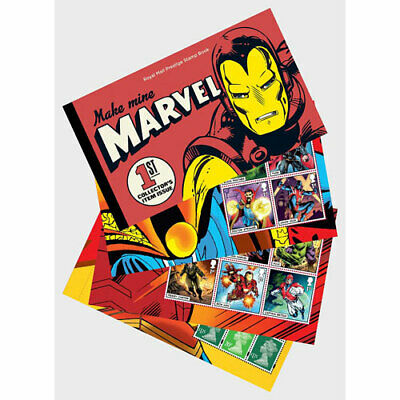 Gran Bretaña Gb Sellos Marvel Comics Carnet Prestige Stamp Book 2019 Royal Mint