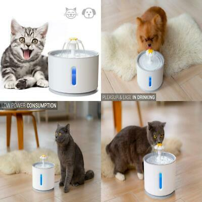 ADOV Pet Water Fountain, 2.4L Indoor and Outdoor Automatic Electric Cat...
