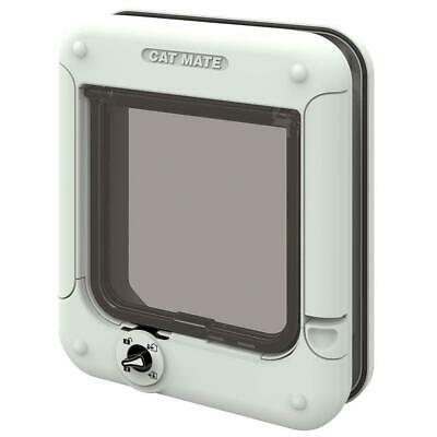 Cat Mate Rotary 4-Way Locking Flap - White, One Size, White