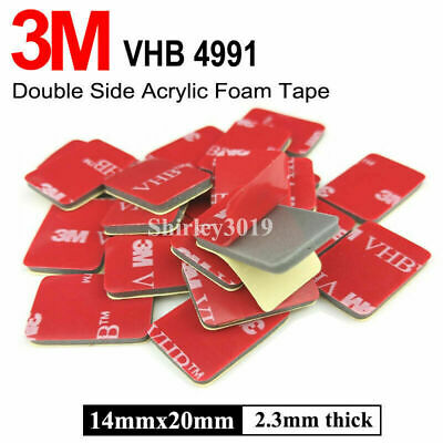 3M VHB 4991 Gray Double-sided Acrylic Foam Mount Tape 14mmx20mm Thick 2.3mmm