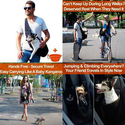 Dog Sling for Small Dogs and Puppy - Pet Front Pack Carrier Travel Cotton...