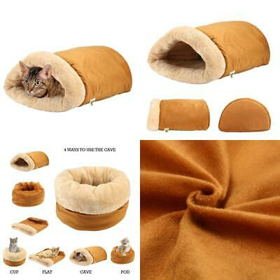 Pet Magasin [Extra 90% OFF] Cat Cave Igloo Bed - A Four-Way Snuggly Pod...