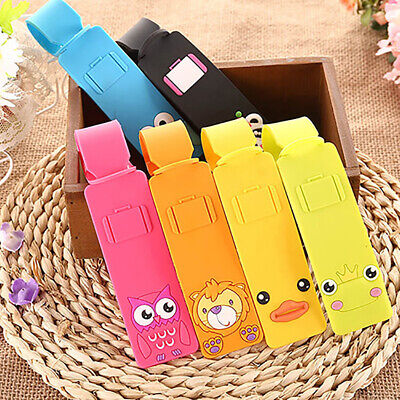 Cute Silicone Travel Luggage Tags Baggage Suitcase Bag Labels Name Address Eager