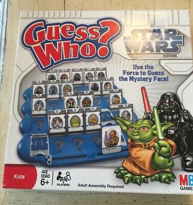 Star Wars Guess Who? Board Game Hasbro Milton Bradley 2008 Edition MADE IN USA