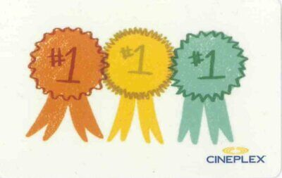 Gift Card: Cineplex Movie Theatres (Canada) #1 Ribbons, FD61167, $0.00