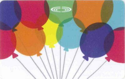 Gift Card: Cineplex Movie Theatres (Canada) Colorful Balloons, FD61159, $0