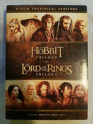 The Hobbit Trilogy and the Lord of the Rings Trilogy Theatrical Versions DVD
