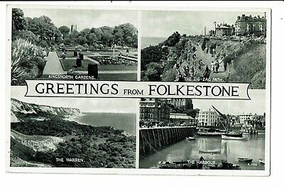 CPA - Carte postale  Royaume Uni - Greetings from Folkestone -Multivues -VM2892