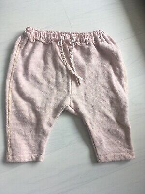 NEXT Baby Girls Pink Trousers 3-6 Months Gold