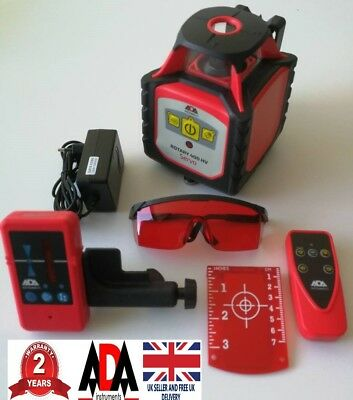 Rotary Laser Level 360 Degree Self Leveling Remote Control 400M Range Survey ADA