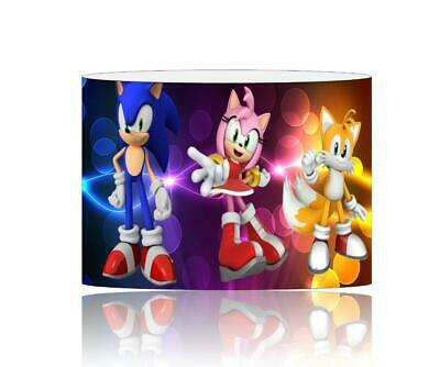 (068) Sonic The Hedgehog Lampshade / Ceiling Light Shade Kids Free P+P