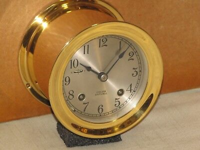 """Vintage Chelsea Clock Company 3-3//4/"""" Replacement Silver Colored Dial F-S E441b"""