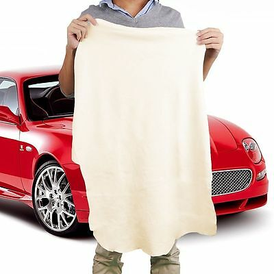 Natural Shammy Chamois Leather Car Cleaning Towels Drying Washing Cloth Super