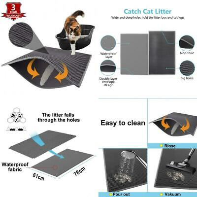 Pieviev Cat Litter Mat Tray of Large Size 30'' x 24'' Double Layer Honeycomb...
