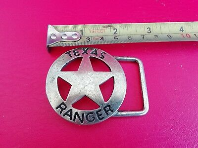 Nos. Vintage Texas Ranger Star Belt Buckle  Free. Shipping
