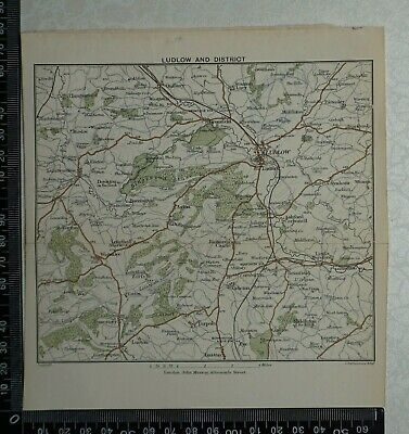1897 Map of Ludlow and District by Bartholomew